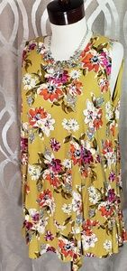 Gorgeous floral Sleevless Tiered Tunic By A&D